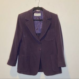 Maxmara Purple Angora Virgin Wool Jacket 8